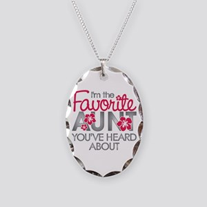 Favorite Aunt Necklace Oval Charm