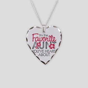 Favorite Aunt Necklace Heart Charm