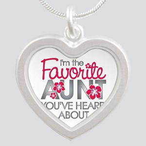 Favorite Aunt Silver Heart Necklace