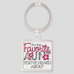 Favorite Aunt Square Keychain