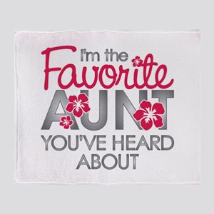 Favorite Aunt Throw Blanket