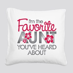 Favorite Aunt Square Canvas Pillow