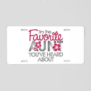 Favorite Aunt Aluminum License Plate