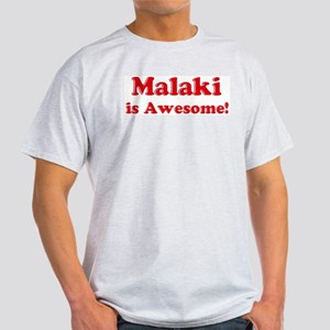 Malaki is Awesome Ash Grey T-Shirt