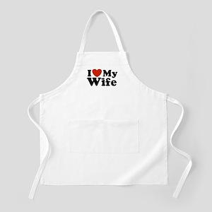 I Love My Wife BBQ Apron