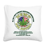 Hemp for Victory Square Canvas Pillow