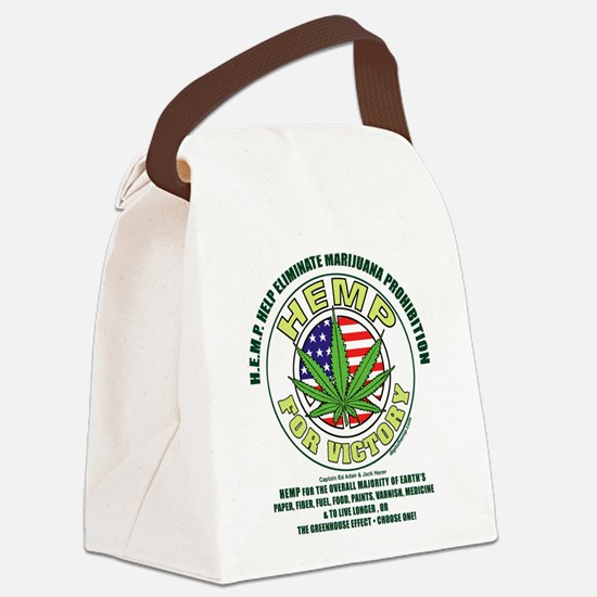 Hemp for Victory Canvas Lunch Bag