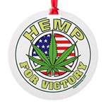 Hemp for Victory Round Ornament