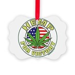 Hemp for Victory Picture Ornament