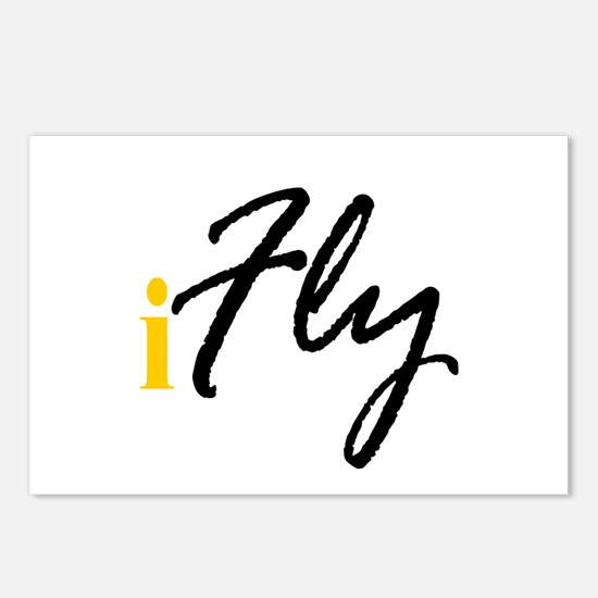 I Fly (black) Postcards (Package of 8)