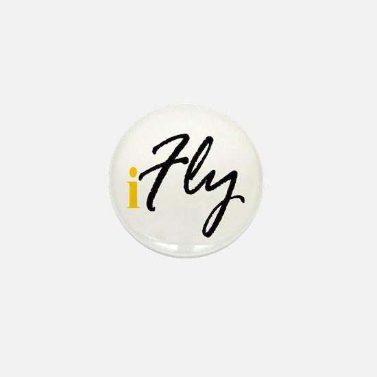 I Fly (black) Mini Button