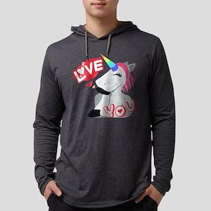 Emoji Unicorn Love You Mens Hooded Shirt