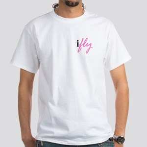 I Fly (pink) White T-Shirt