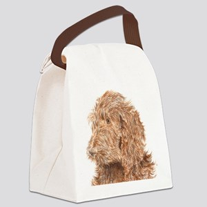 Chocolate Labradoodle 5 Canvas Lunch Bag