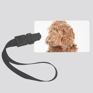 Chocolate Labradoodle 5 Large Luggage Tag