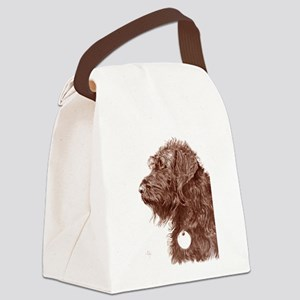Chocolate Labradoodle 4 Canvas Lunch Bag