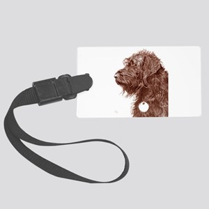 Chocolate Labradoodle 4 Large Luggage Tag