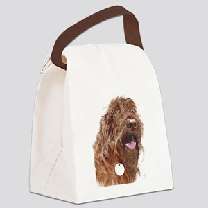 Chocolate Labradoodle3 Canvas Lunch Bag