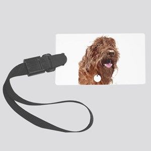 Chocolate Labradoodle3 Large Luggage Tag