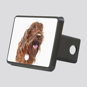 Chocolate Labradoodle3 Rectangular Hitch Cover