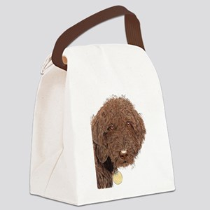 Chocolate Labradoodle 2 Canvas Lunch Bag