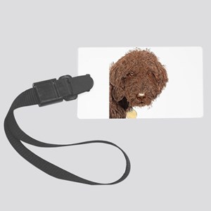 Chocolate Labradoodle 2 Large Luggage Tag