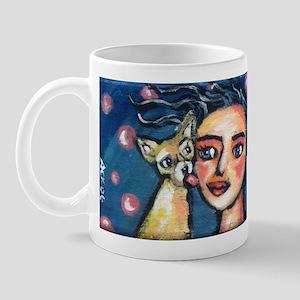 Chihuahua polka dot kiss Mug