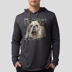 Dogs, english bulldogge, grim lo Mens Hooded Shirt