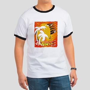 summertime sunrise art illustration T-Shirt