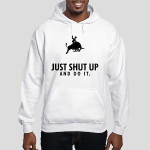 Bull Riding Hooded Sweatshirt