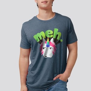 Emoji Unicorn Meh Mens Tri-blend T-Shirt