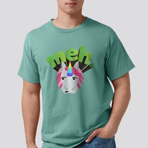 Emoji Unicorn Meh Mens Comfort Colors Shirt