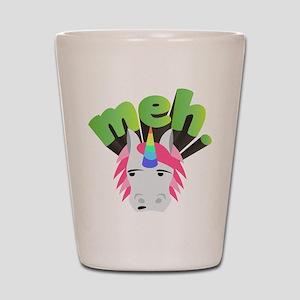 Emoji Unicorn Meh Shot Glass