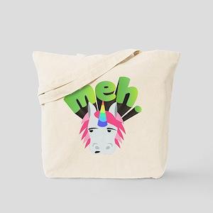 Emoji Unicorn Meh Tote Bag