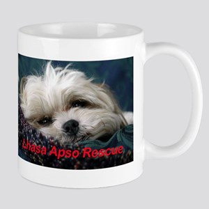 Lhasa Rescue sign Mugs