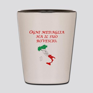 Italian Proverb Two Sides Shot Glass