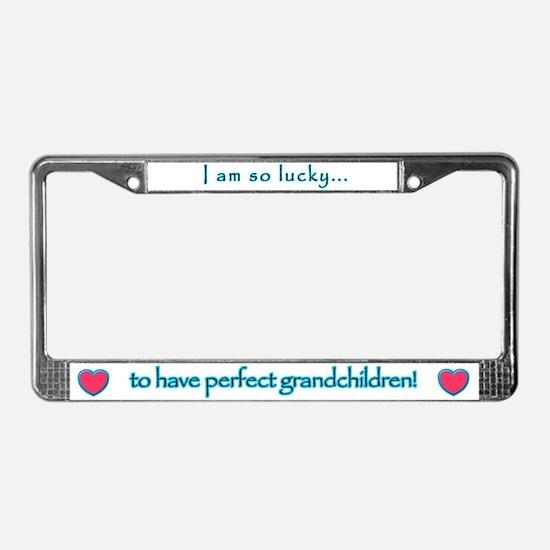 I am so lucky... - License Plate Frame