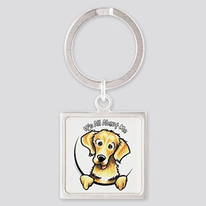 Golden Retriever IAAM Square Keychain