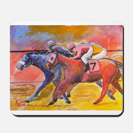 Lucky 7 Race Horses Mousepad