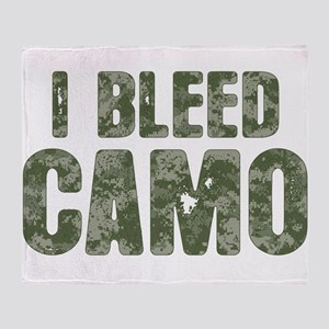 I Bleed Camo (digi) Throw Blanket