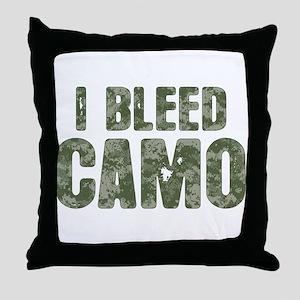 I Bleed Camo (digi) Throw Pillow