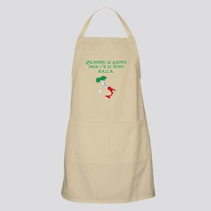 Italian Proverb Cats Away Apron