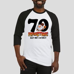 Prehistoric 70th Birthday Baseball Jersey