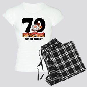 Prehistoric 70th Birthday Women's Light Pajamas