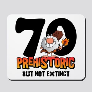 Prehistoric 70th Birthday Mousepad