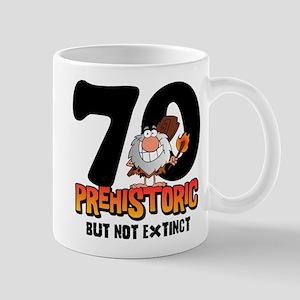 Prehistoric 70th Birthday Mug