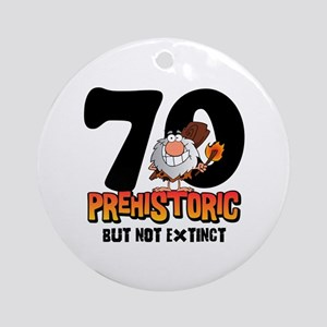 Prehistoric 70th Birthday Ornament (Round)