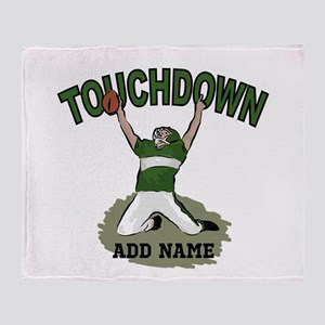 personalized Grid iron footballer Throw Blanket