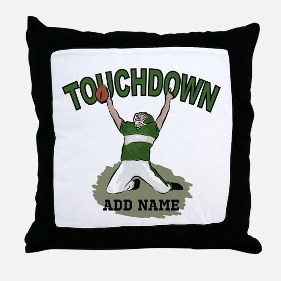 personalized Grid iron footballer Throw Pillow