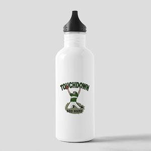 personalized Grid iron footballer Water Bottle